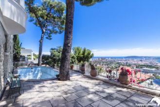 Villa à vendre à Toulon vue mer et piscine avec garage - Agence Immobilière Le Mourillon Happyssimmo - Le Faron Happyssimmo - Maison à vendre à Toulon - Villa for sale in Provence